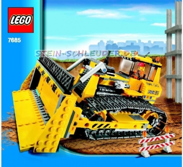 lego city bauanleitung bulldozer 7685 legosteine. Black Bedroom Furniture Sets. Home Design Ideas
