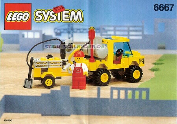 lego town bauanleitung pothole patcher 6667 legosteine. Black Bedroom Furniture Sets. Home Design Ideas